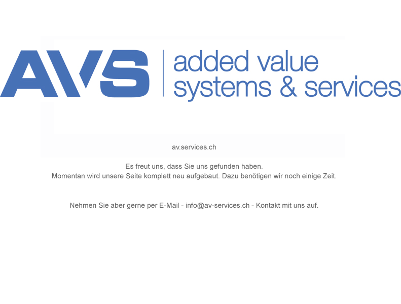AV-Services - added value systems & services - bald online!